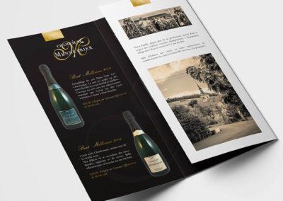 Dépliant et flyer – Champagne Mennetrier
