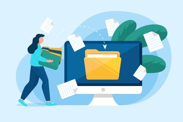 logo livraison fichiers type