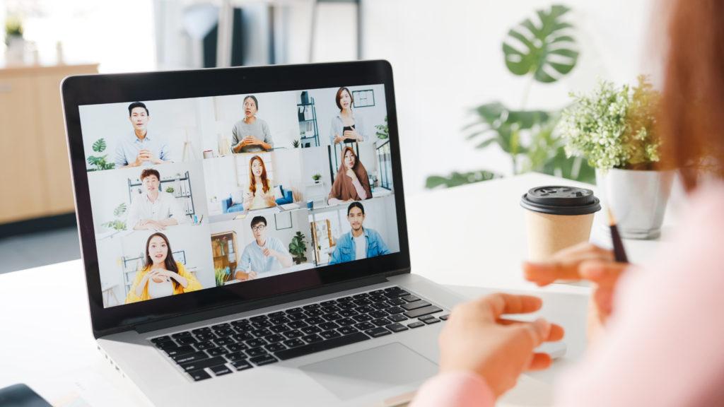 video conference habillage graphique